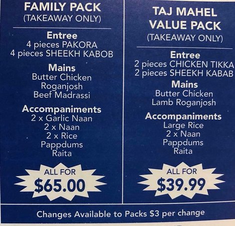 Taj Mahal Indian Restaurant - Sunshine Coast Tourism